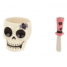 Набор глубокая чаша и нож Boston Witch Doctor Skull 66176