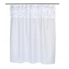 Шторка для ванной Carnation Home Fashions Jasmine White FSCL-JAS/21