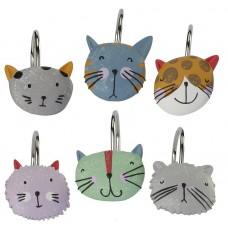 Набор из 12 крючков для шторки Creative Bath Kitty KTY83MULT