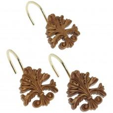 Набор из 12 крючков для шторки Carnation Home Fashions Fleur dis Lis Gold PHP-FL/02