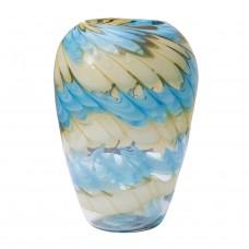 Ваза стеклянная (бело-синяя) HJ666-28-F51