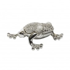 Шкатулка для украшений «Лягушка» серебряная JB1042A