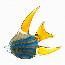 Статуэтка «Рыба» желто-голубая F5442
