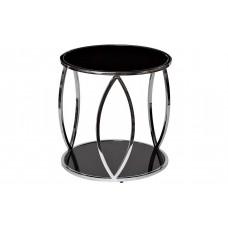 Стол журнальный с черным стеклом 13RXT6042-SILVER