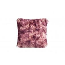 Подушка меховая розово-палевая односторонняя