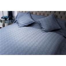 Покрывало на двуспальную кровать 240х260 синее Papillon II 16AMR-PAPILLON PK2.04M-BL