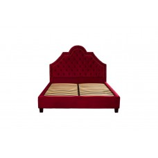 Кровать красная двуспальная с изголовьем Province RE