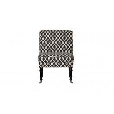 Кресло черно-белое (лён) DY-734