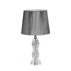 Лампа настольная стеклянная (серебряный абажур) X71207