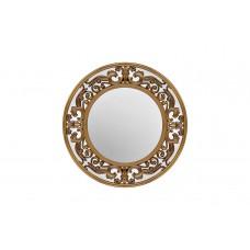 Зеркало круглое в золотой раме M329
