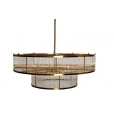 Люстра стеклянная (золотая) K2KR806-10BR