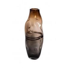 Ваза стеклянная серо-коричневая KL181-078