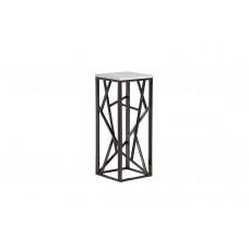 Столик журнальный высокий из мрамора 47ED-FS015BLSM