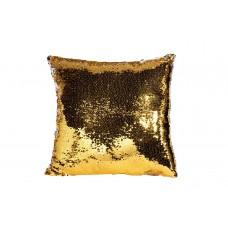 Подушка декоративная с пайетками (золото-серебро) 28ML-P00115