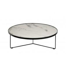Стол журнальный белый (искусственный мрамор) 33FS-CT275-BL