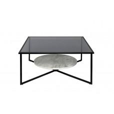 Стол журнальный квадратный с темным стеклом 57EL-CT181C