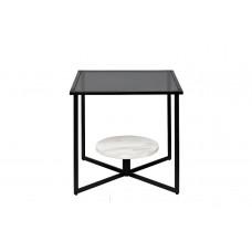 Столик журнальный квадратный с темным стеклом 57EL-ET181D