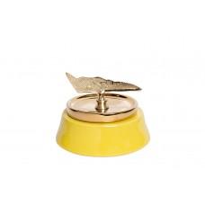 Ваза керамическая с крышкой желтая 55RD2920S