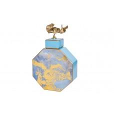 Ваза керамическая с крышкой (голубая с золотом) 55RD3570S