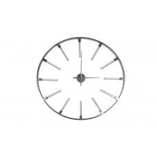 Часы настенные круглые серебристые 19-ОА-6157SL