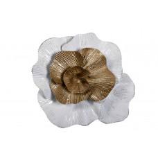 Декор настенный «Цветок» бело-золотой 37SM-0662