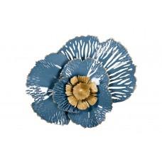 Декор настенный «Цветок» золотисто-голубой 37SM-0844