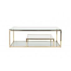Стол журнальный со стеклянной столешницей (цвет золото) GY-CT8005GOLD