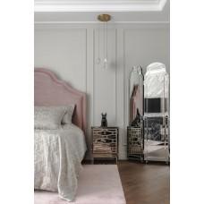 Тумбочка зеркальная с ящиками KFG046