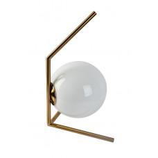 Лампа настольная «Шар» (белое стекло) 60GD-9137T1