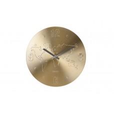 Часы настенные «Карта мира» (цвет золото) YP7165030G