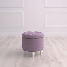 Пуф круглый малый с ящиком Гроссето Studioakd puf kr HM26 Светло-фиолетовый