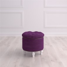 Пуф круглый малый с ящиком Гроссето Studioakd puf kr HM29 Фиолетовый
