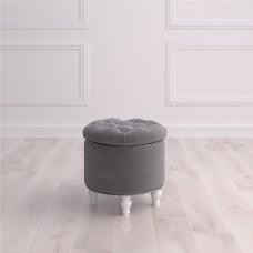 Пуф круглый малый с ящиком Гроссето Studioakd puf kr MR11 Серый