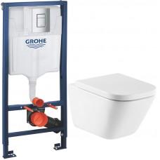 Комплект унитаза Roca The Gap Clean Rim 34647L000 с инсталляцией Grohe Rapid SL 38772001