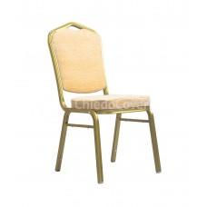Банкетный стул Хит 25 мм Белый шенилл, золото 006-2