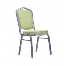 Банкетный стул Хит 25 мм Салатовый ромб, серебро 006-4