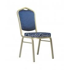 Банкетный стул Хит 25 мм Синяя корона, бронза 006-9