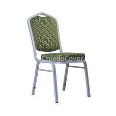 Банкетный стул Хит 25 мм Зеленый ромб, серебро 006-3