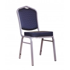 "Банкетный стул ""Хит 25мм"" - серебро, синяя корона 006-29"