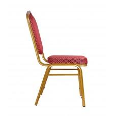 """Банкетный стул """"Хит 25мм"""" - золото, красный ромб 006-27"""