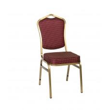 Банкетный стул Квадро 20мм (базовый) – золотой, красная корона 001-316