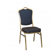 Банкетный стул Квадро 20мм (базовый) – золотой, синяя корона 001-314