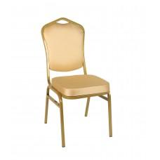 Банкетный стул Квадро 20мм – золотой, бежевая корона 001-24