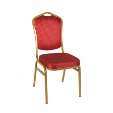 Банкетный стул Квадро 20мм – золотой, красная корона 001-25