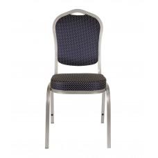 Банкетный стул Квадро 25мм алюминиевый, синяя корона 001-94