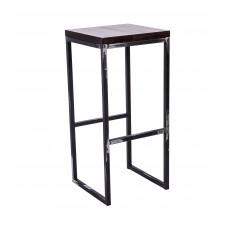 Стул барный лофт Симпл с деревянным сиденьем УТ000000833