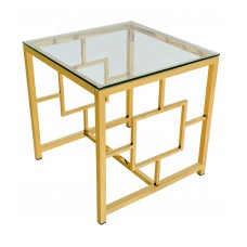 Журнальный столик 55*55 БРУКЛИН золото УТ000000886