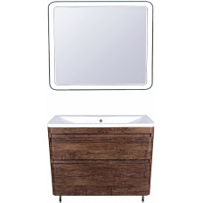 Мебель для ванной Style Line Атлантика 100 Люкс Plus, напольная, старое дерево