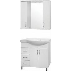Мебель для ванной Style Line Эко Стандарт №25 82 белая, левая