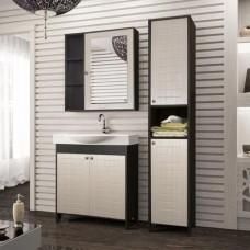 Мебель для ванной Style Line Кантри 76 венге, лен белый